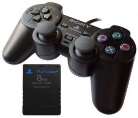 Комплект Double Pack Контроллер DualShock 2 + Карта памяти Sony Memory Card 8 MB для PS2